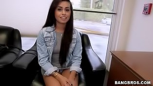 Tremendous brunette gets drilled deep