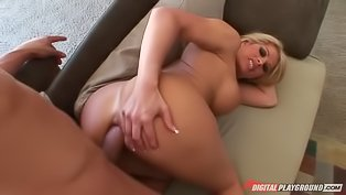 Lustful blonde bimbo wants hard cock