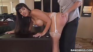Sexy Latina is sucking and riding cock