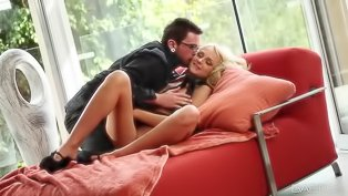 Lustful blonde is getting penetrated
