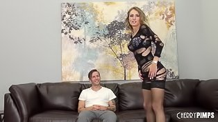 Long-legged madam gets drilled