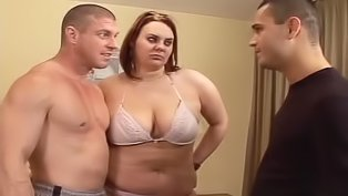 Chubby brunette just loves anal sex