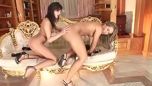 Two glamorous Euro sluts having fun