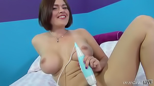 Dude fucks babe after vibrator