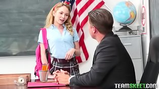 Strong teacher is fucking schoolgirl