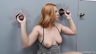 Redhead babe with long dicks